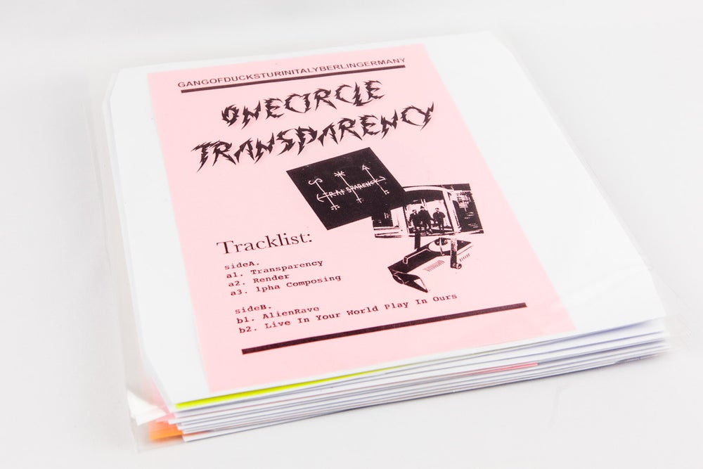 Image of GODREC0007 (Callme reprint edition) One Circle - Transparency