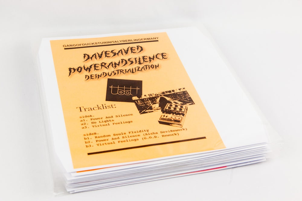 Image of GODREC0006 (Callme reprint edition) Dave Saved - Power and Silence: Deindustrialization