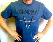 "Image of Vandals Nun Chuk Shirt ""Indigo Blue"""