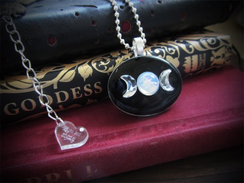 Image of Triple Moon Goddess Resin Pendant