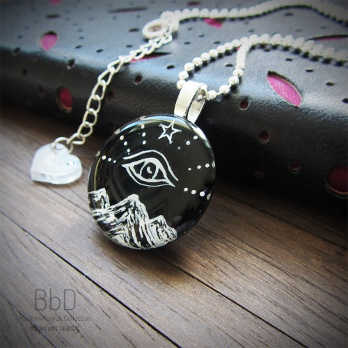 Image of All Seeing Eye Resin Pendant