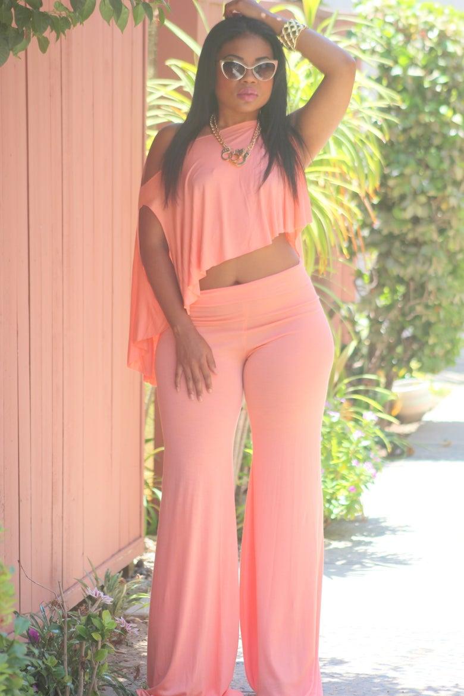 Image of Peach 'Trish' Pant Set