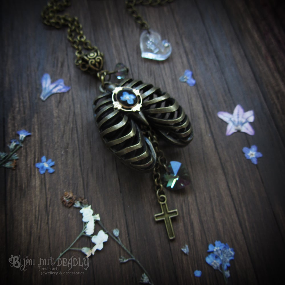 Image of Forget-me-not Rib Cage Necklace