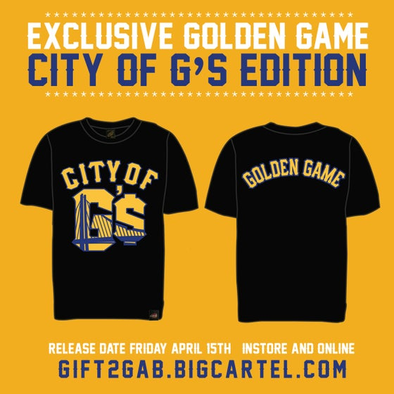 "Image of CITY OF G'$ ""GOLDEN GAME""  BLACK T-SHIRT"