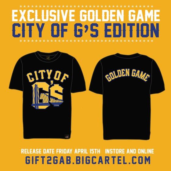"Image of CITY OF G'$ ""GOLDEN GAME""  BLACK T-SHIRT"