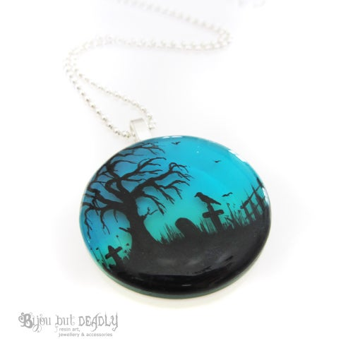 Image of Twilight Resin Round Pendant