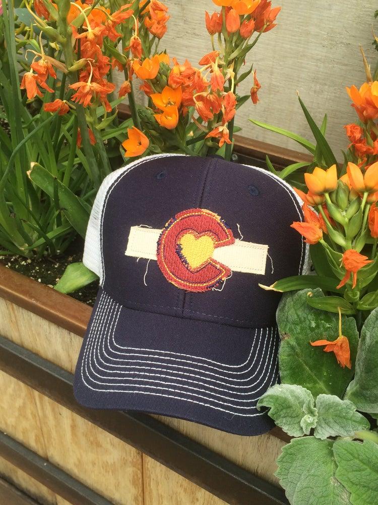 Image of Colorado Love Trucker Hat - Navy Blue