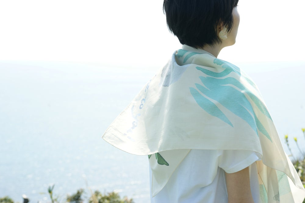 Image of succulent scarf