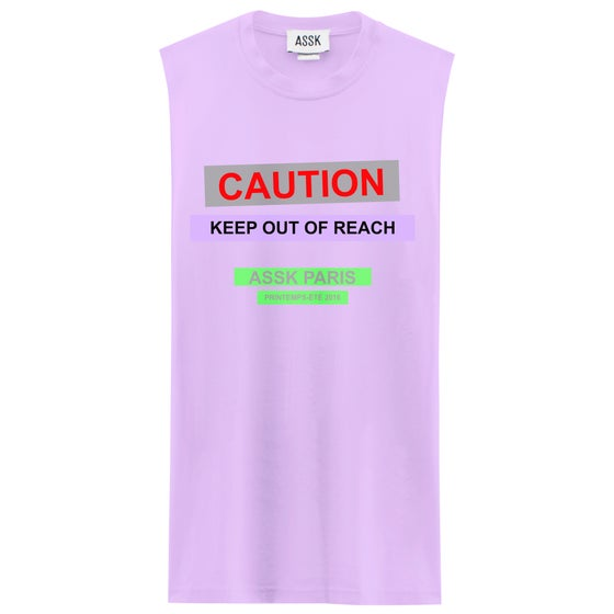 Image of CAUTION T-shirt - Lavender