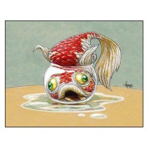 "Image of ""Stuck"" Goldfish Print"