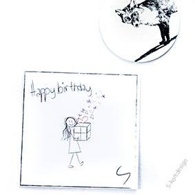 Image of Bursdagskort jente