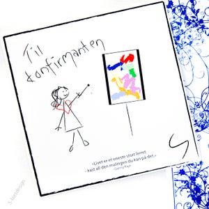 Image of Konfirmasjonskort jente 1