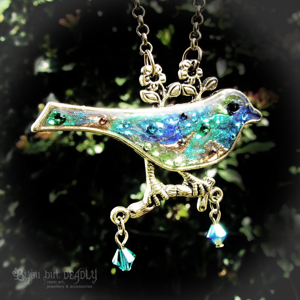 Image of Patchwork Bird Pendant