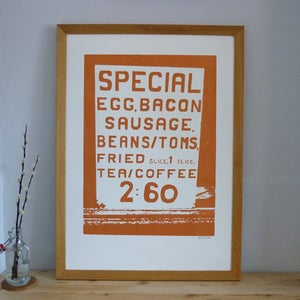 Image of Big Breakfast screenprint on paper - Copper