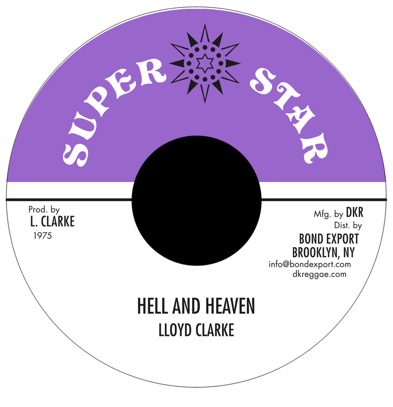 "Image of Lloyd Clarke - Hell and Heaven 7"" (Super Star)"