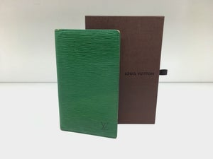 Image of Louis Vuitton Green Epi Leather Checkbook Cover