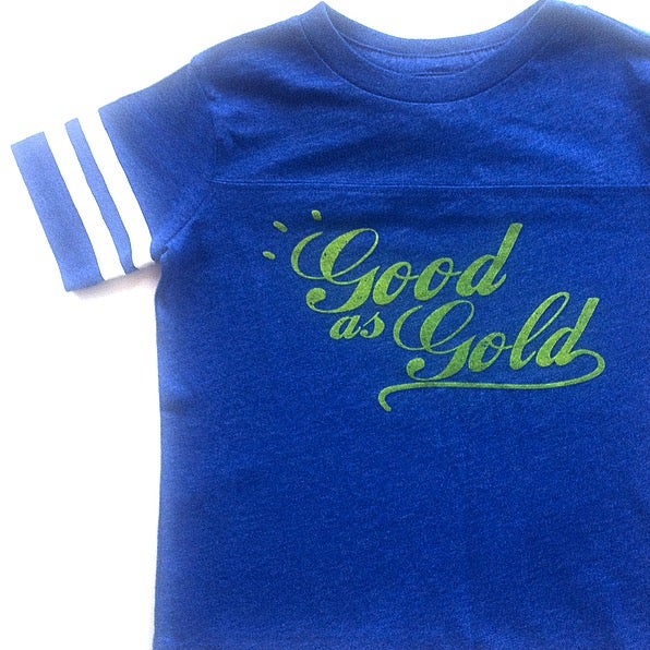 Image of GOOD AS GOLD TODDLER FOOTBALL TEE