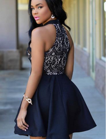 Image of FASHION HOT BLACK WHITE DRESS