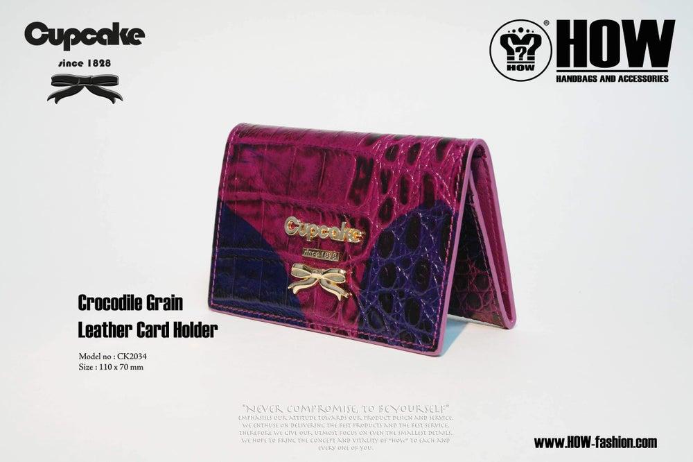 Image of Crocodile grain leather Card Holder [CK2034]