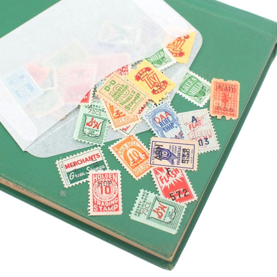 Image of 40 Vintage Saver Stamps