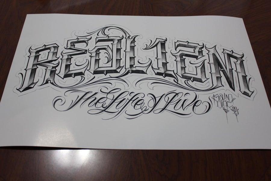 "Image of Realizm x Kalm One ""The Life I Live"" Limited Print"