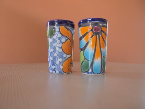 Image of Talavera tequila shot glasses