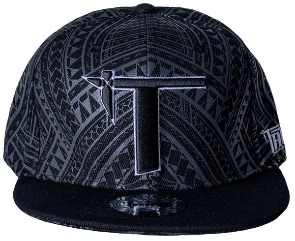 "Image of ""Roots"" Snap Back Black/Gray"