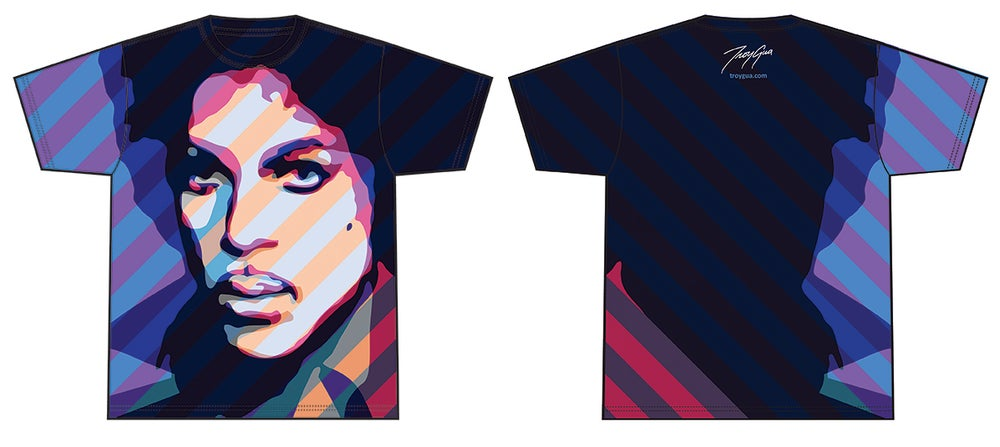 Image of Troy Gua's 'The Artists 2.0' Pop Hybrid All-Over T-Shirt