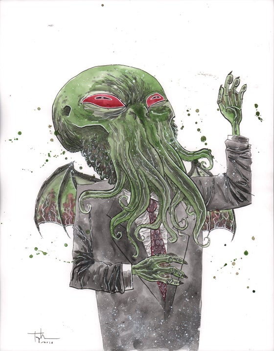 Image of VOTE CTHULHU ORIGINAL ART