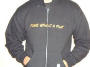 Image of The PWP/Rdub Black Zip Up Hoodie