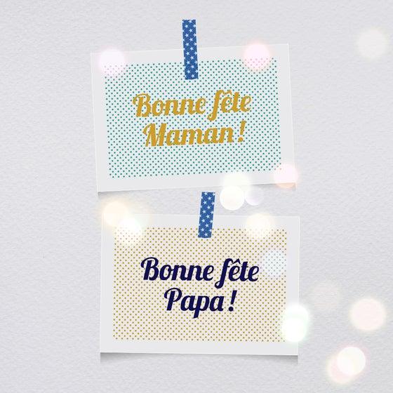 Image of Cartes-postales Bonne fête Maman/Papa !