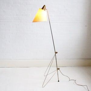 Image of Brass floor lamp by Josef Hurka