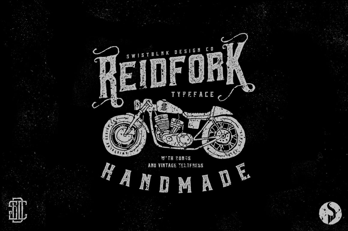 Image of Reidfork Typeface & Textpress Plus Handdrawn Vector