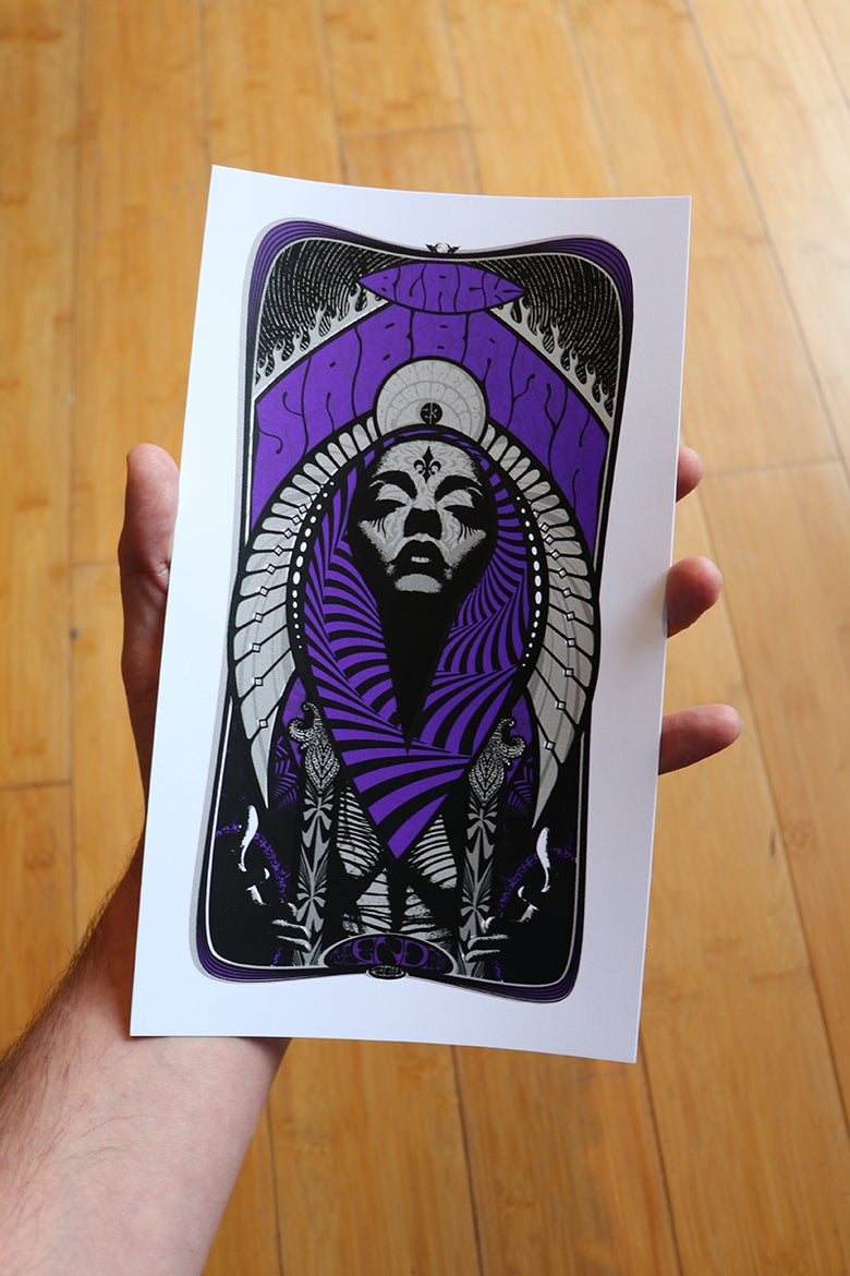 Image of HANDBILL - Black Sabbath (Mini-print) Montreal the End Tour