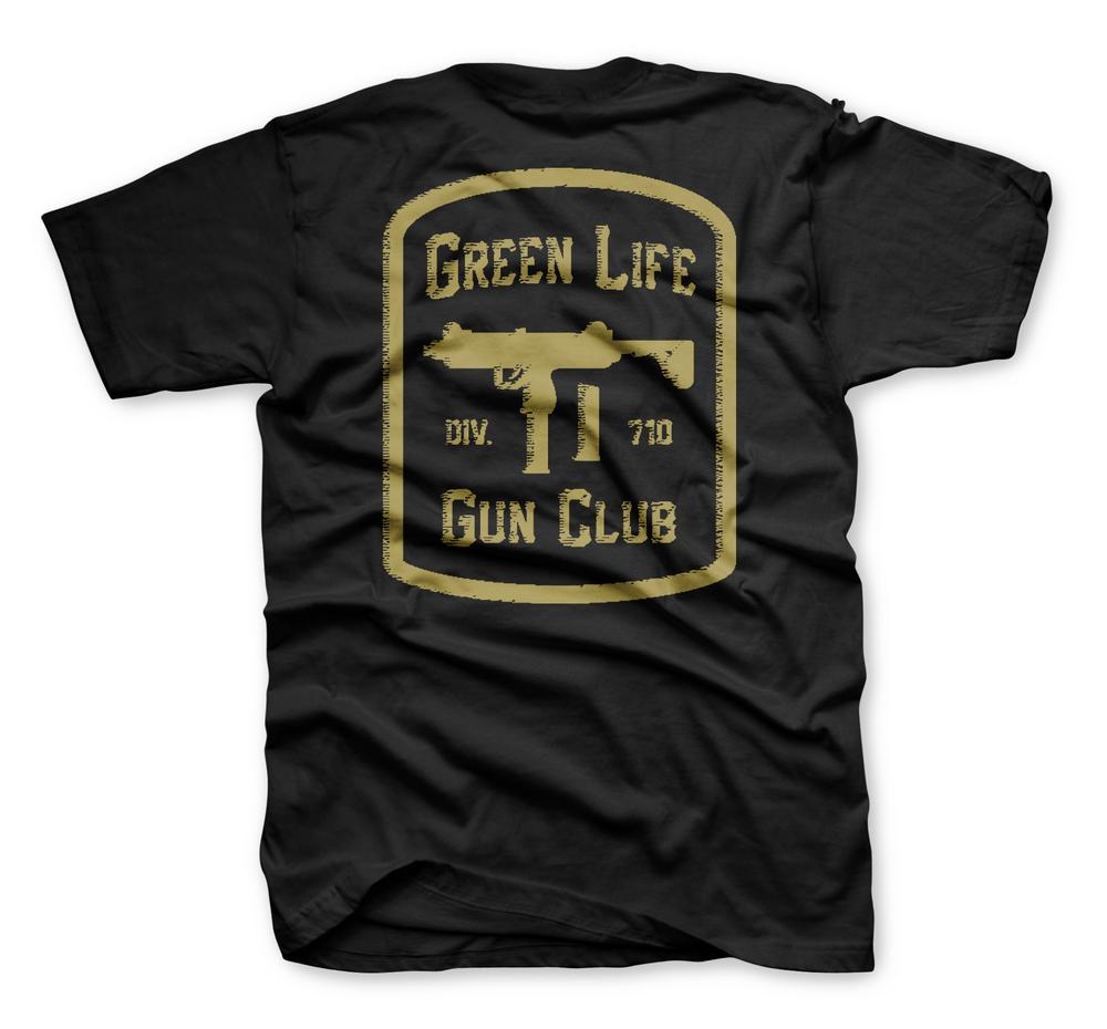 The Gun Club Tee In Black Green Life Clothing
