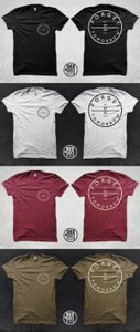 "Image of ""TRADEMARK"" TEE - BLACK / WHITE / MAROON / OLIVE - $15"