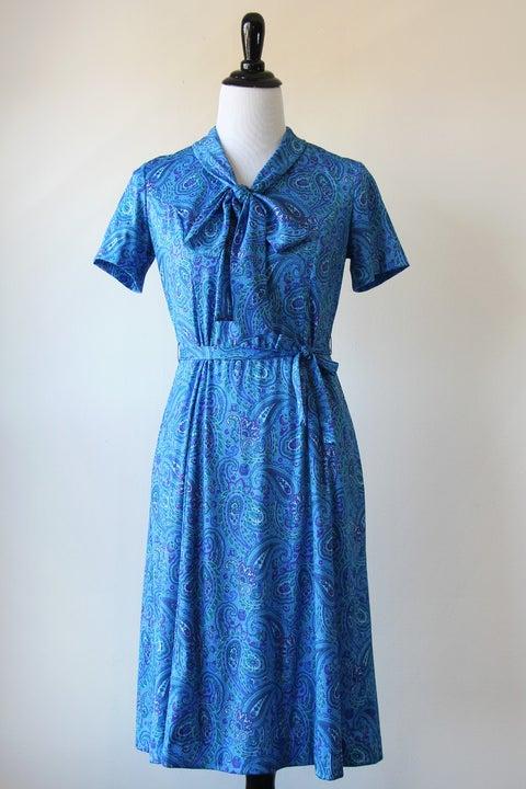 Image of Blue Paisley Dress