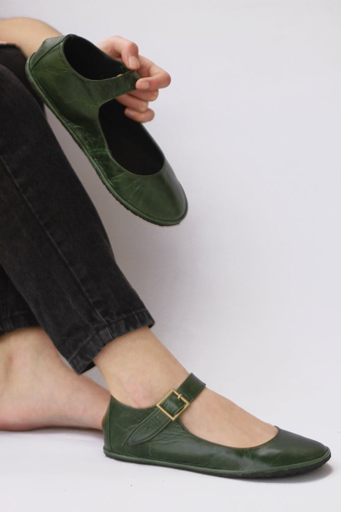 Image of Ballet flats - Alma libre - Handmade Leather Mary Janes