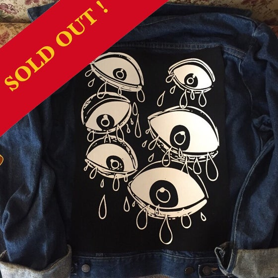 """Image of """"Crybaby"""" Large Screen Printed Sew On Back Patch"""