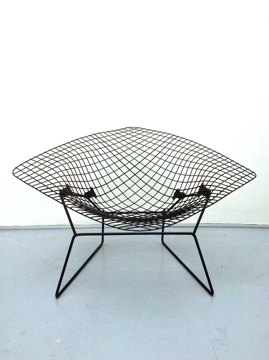 Image of Early Wide Diamond Chair by Bertoia, 1950s