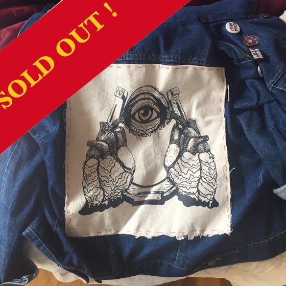 """Image of """"Lucky To Be Loved"""" Large Screen Printed Sew On Back Patch"""