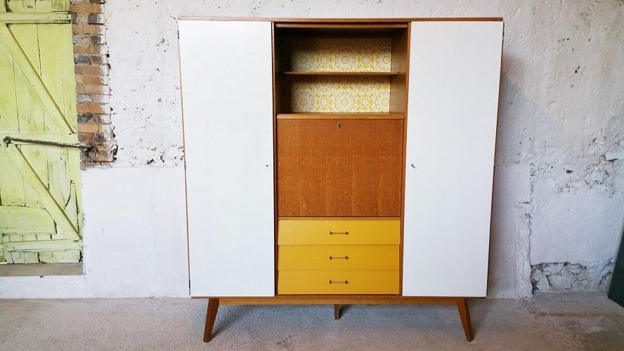 Image of Grande armoire secrétaire double portes / Années 60