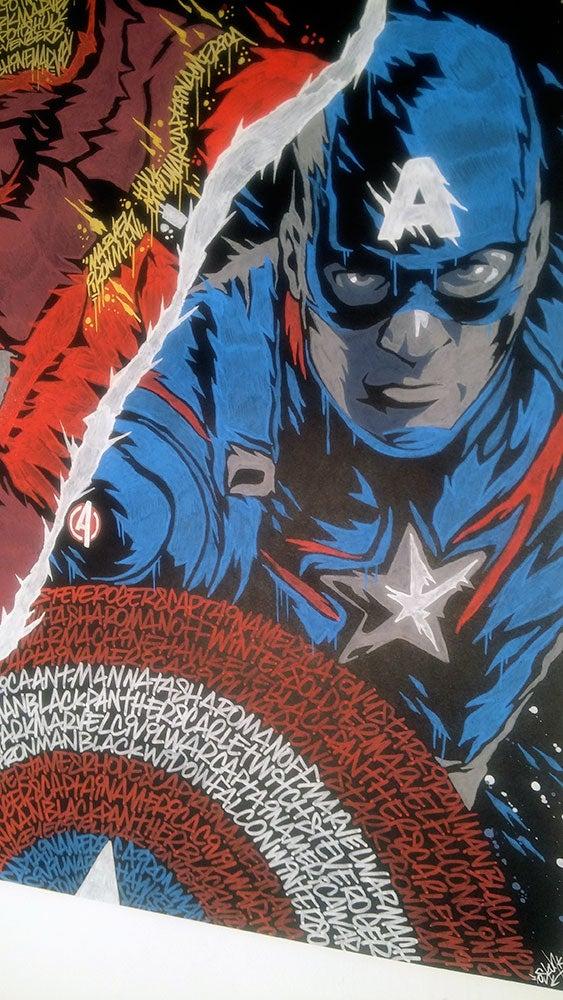 Image of Captain America X Iron Man GRAFFITI