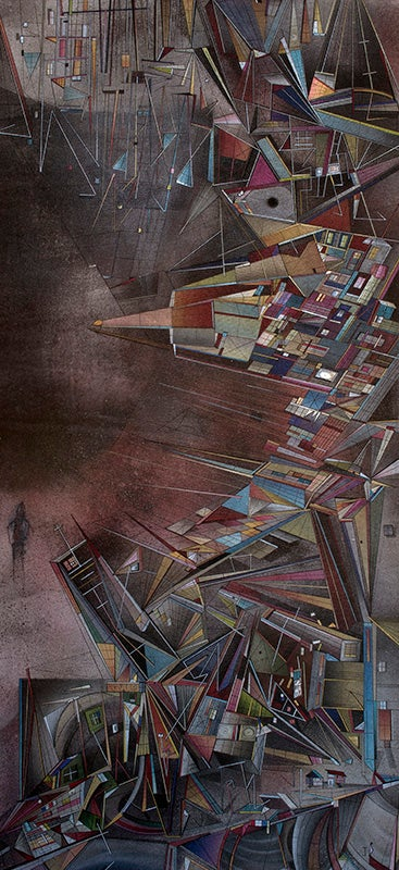 Image of One Mans Tsunami - A2 signed high quality fine art archival print.