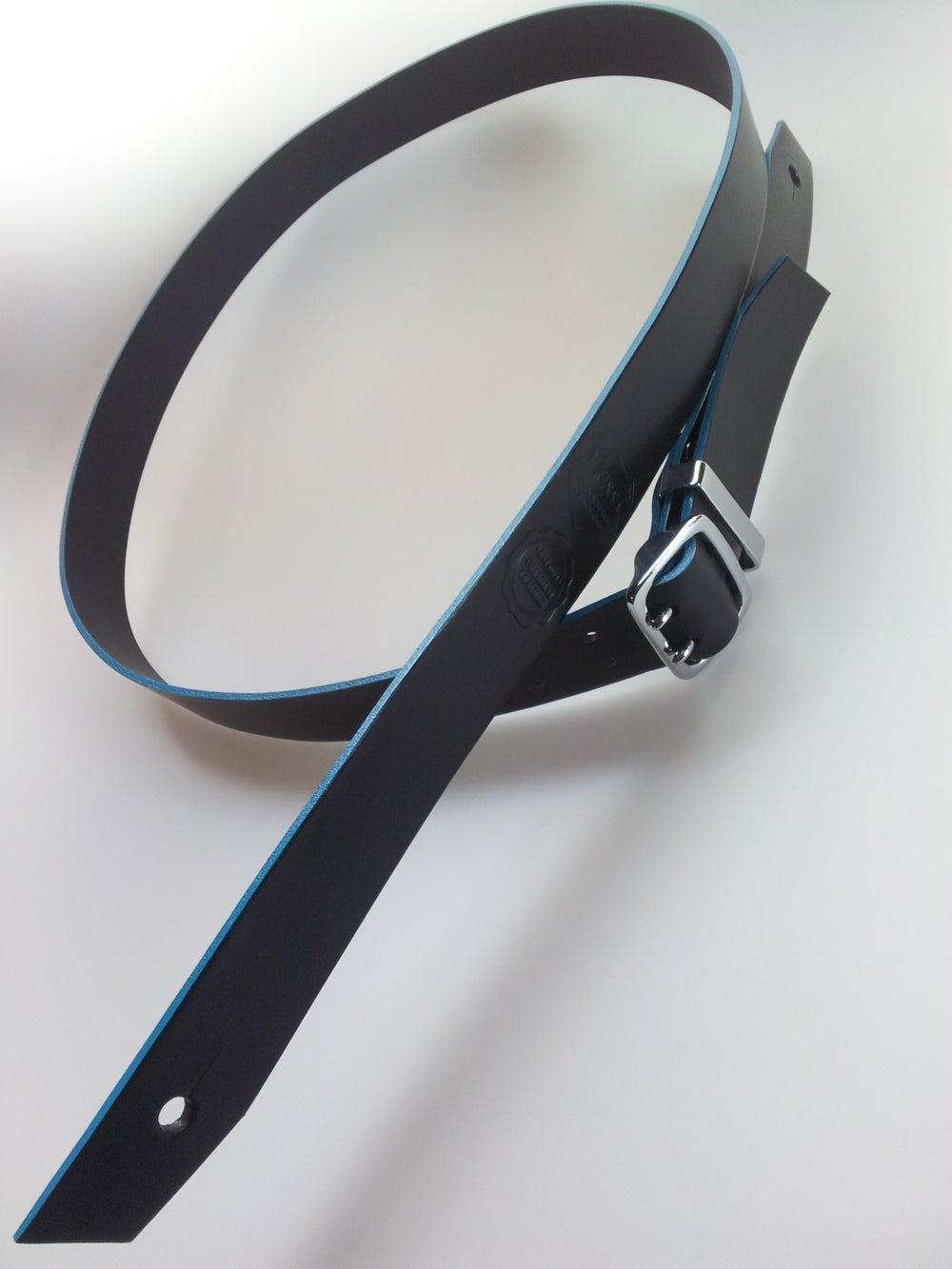 Image of Count Loop Chrome / Guitar Strap + Aqua Edge / Colour Options
