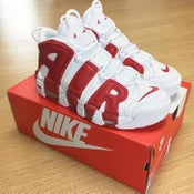 Image of NIKE AIR UPTEMPO WHITE RED