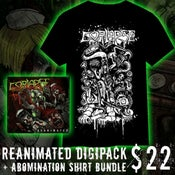 Image of Reanimated Digipack + Abomination Shirt Bundle