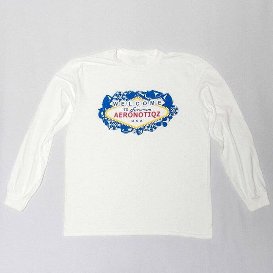 "Image of White ""Futurism"" Long Sleeve Tee"