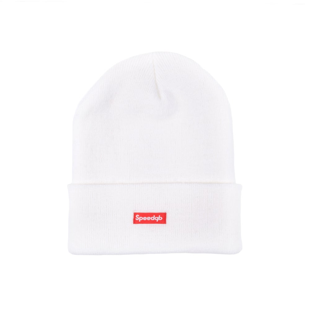 Image of SpeedQB Cuff Beanie - White