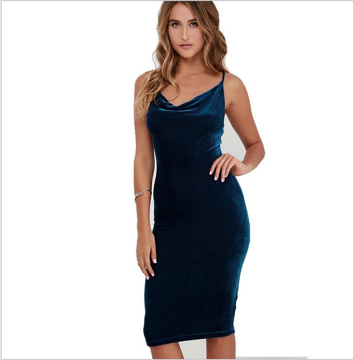 Image of Sexy condole velvet dress